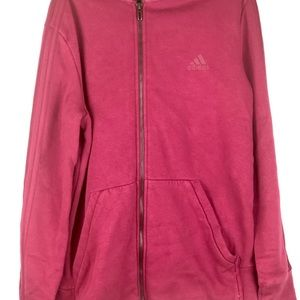 Adidas fuchsia zip up hoodie size medium